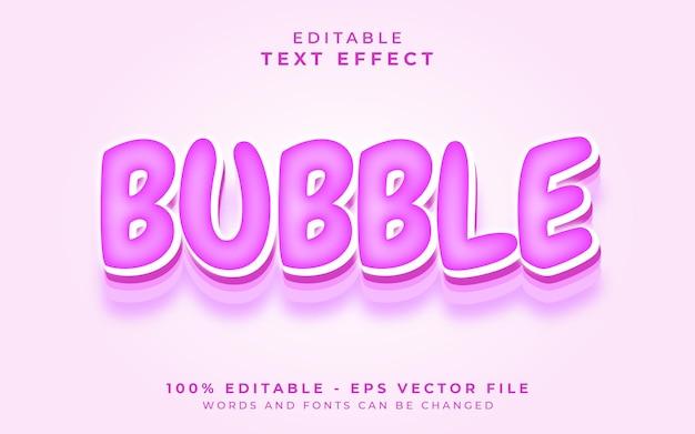 Effetto di testo modificabile a bolle
