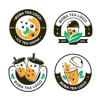 Collezione di logo bubble tea