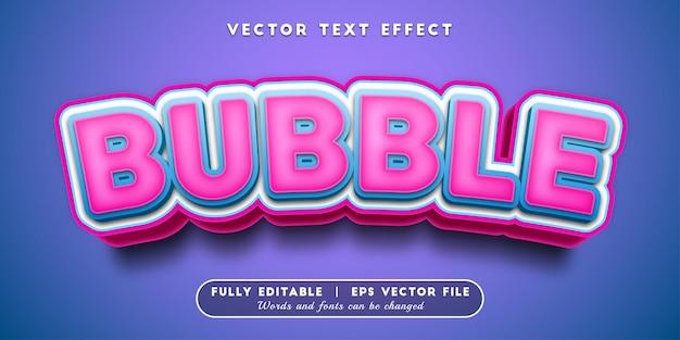 Effetto testo a bolle, stile di testo modificabile