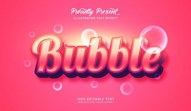 Effetto stile testo bolla. effetto di testo modificabile