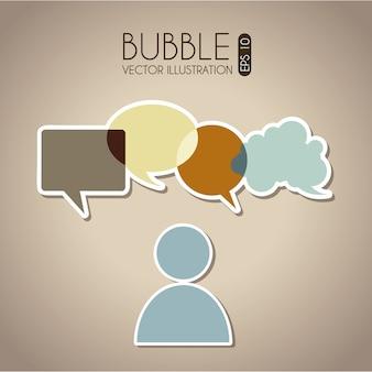 Bolle icone di comunicazione