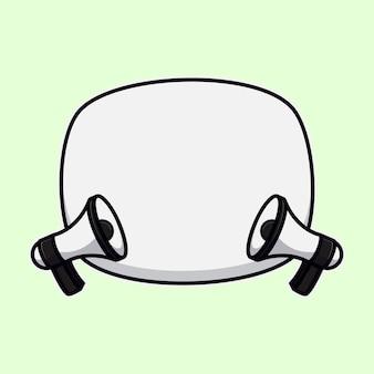 Illustrazione di doodle di vettore di stile piano bolle. icone di tag, fumetto nella pop art