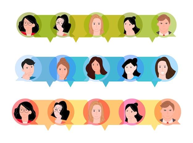 Buble testo con persone nel concetto di conversazione
