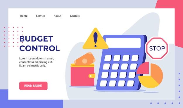 Fondo del calcolatore di controllo del bilancio della campagna dei soldi del grafico a torta