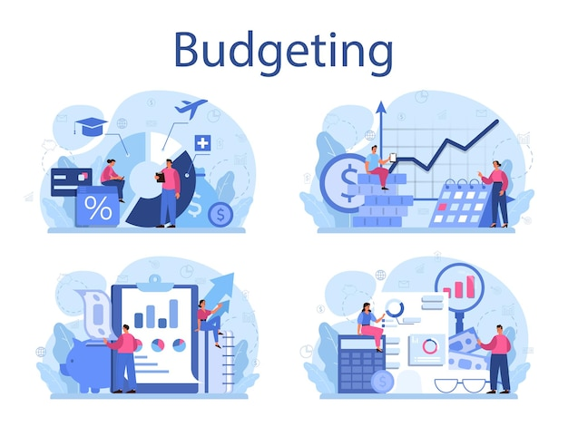 Set di concetti di budget