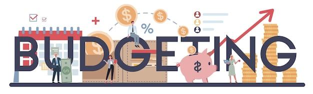 Budgeting concetto tipografico