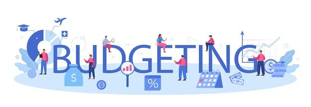 Intestazione tipografica di budget