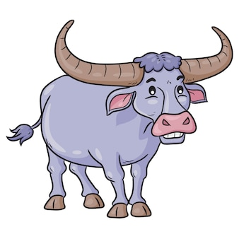 Buffalo cute cartoon