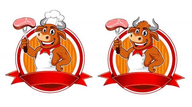 Buffalo mascotte dei cartoni animati alla griglia