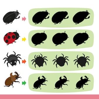 Progettazione della raccolta di vettore del gioco di insetto