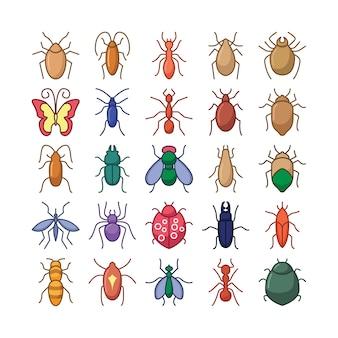 Collezione di icone di bugs