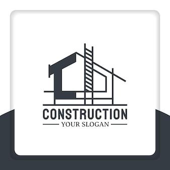 Costruire una nuova casa logo design vettore rimodellamento e riparazione