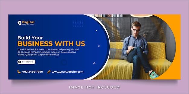 Costruisci la tua agenzia di affari e la copertina di facebook aziendale per i post sui social media o il modello di banner web