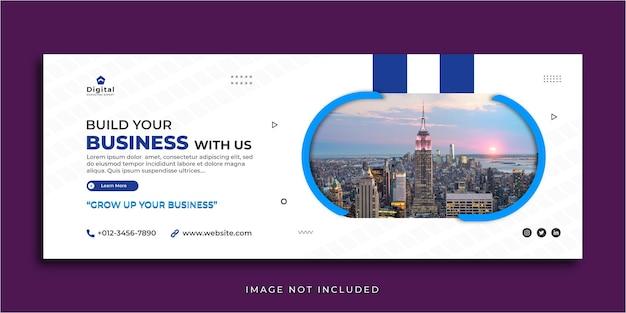 Costruisci il tuo modello di banner di post sui social media per la copertina di facebook di marketing aziendale