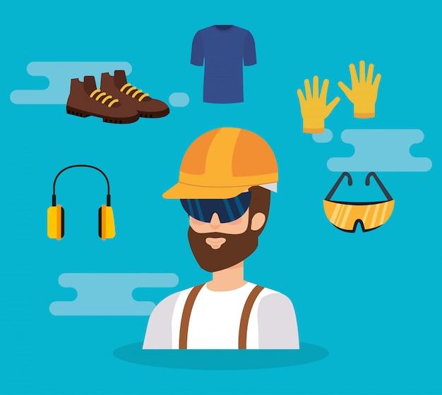 Costruttore costruttore con attrezzature