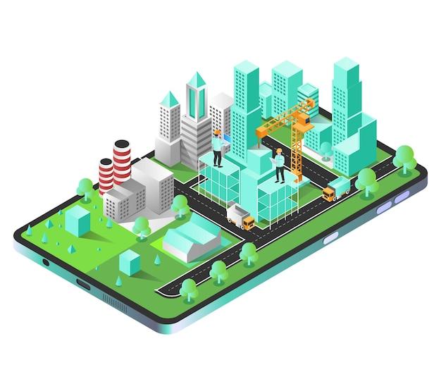 Costruttori di città su smartphone