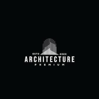 Modello di progettazione immobiliare logo architettura edificio