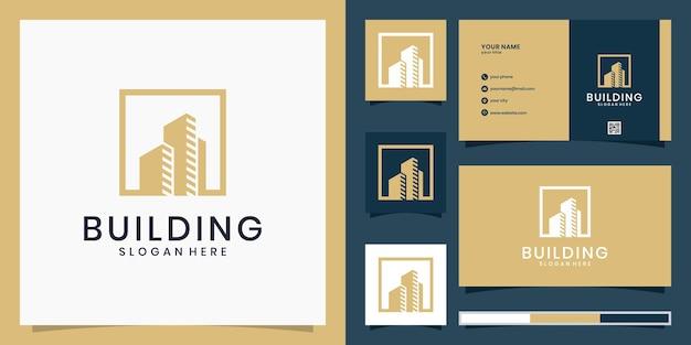 Logo di architettura della costruzione
