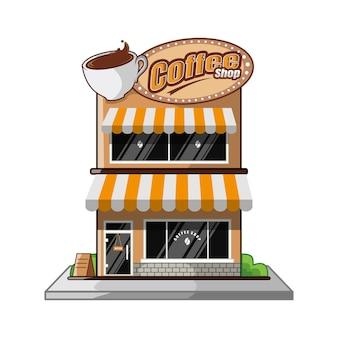 Fumetto di progettazione della caffetteria della costruzione