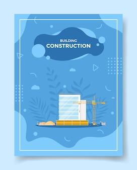 Concetto di costruzione di edifici per modello