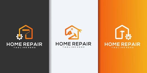 Collezione di logo di costruzione di edifici. logo design vector