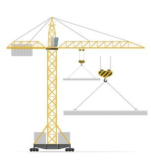 Illustrazione di vettore della gru della costruzione