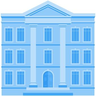 Edificio icona vettore casa città ufficio affari o governo