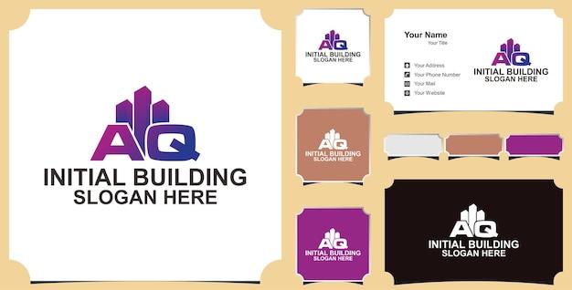 Edificio lettera aq logo