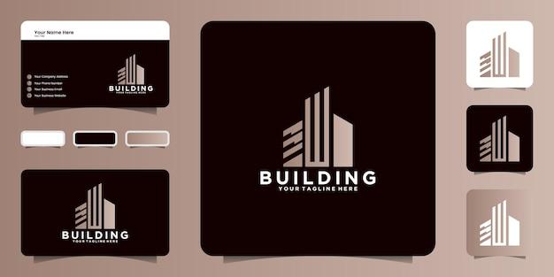 Costruire l'ispirazione per il design del logo con la lettera iniziale w e il biglietto da visita
