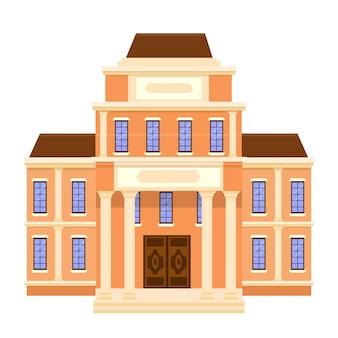 Costruzione del museo in disegno vettoriale storia del luogo pubblico dell'architettura grafica