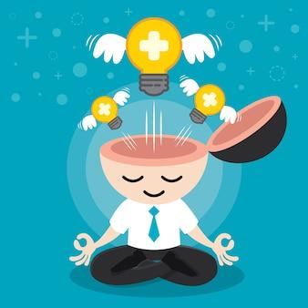 Costruire un'idea positiva Vettore Premium