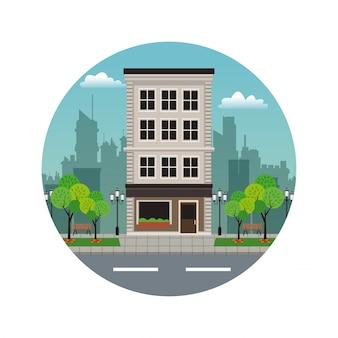 Costruzione di francobolli stradali per gli appartamenti residenziali