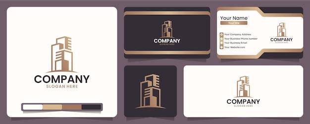 Edifici, layout di edifici, bellezze costruttive, per aziende di attrezzature e costruzioni, ispirazione per il design del logo