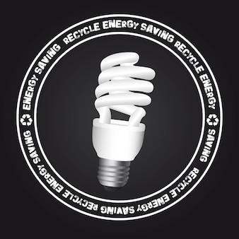 Segno elettrico della lampadina sopra l'illustrazione nera di vettore del fondo