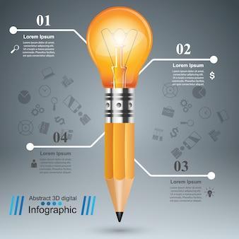 Lampadina infografica