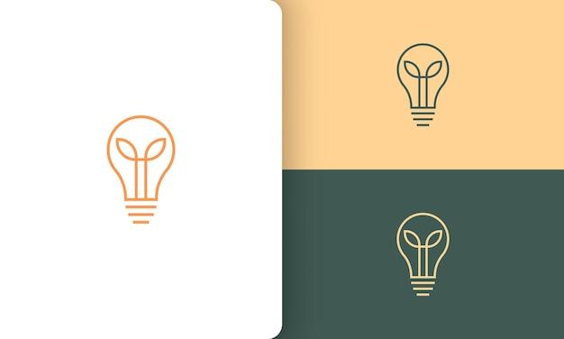 Logo della lampadina o della conoscenza in stile semplice e moderno
