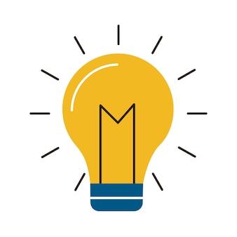 Icona dell'idea creativa della luce della lampadina
