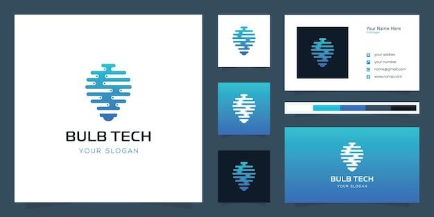 Design del logo della tecnologia della lampadina