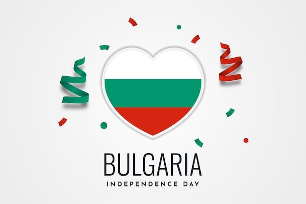Progettazione del modello di celebrazione del giorno dell'indipendenza della bulgaria