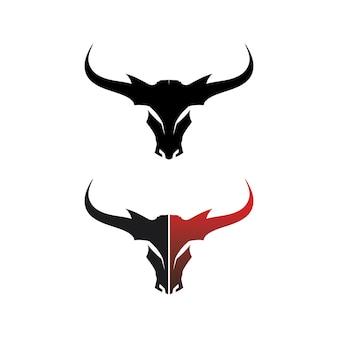 Testa di bufalo del toro, mucca, vettore di progettazione del logo della mascotte animale per il bufalo del corno di sport, animale, mammiferi, logo della testa, selvaggio, matador