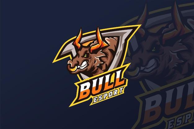 Modello di logo bull-esport