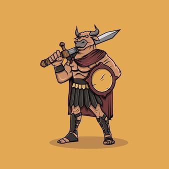 Personaggio di combattimento di tori