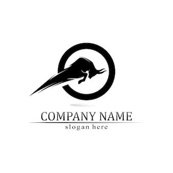 Corno di toro e bufalo logo e simboli icone modello app