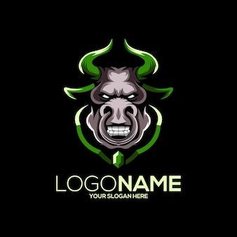 Design del logo del toro