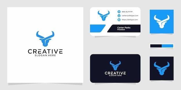 Il design grafico del logo del toro per altri usi è perfetto