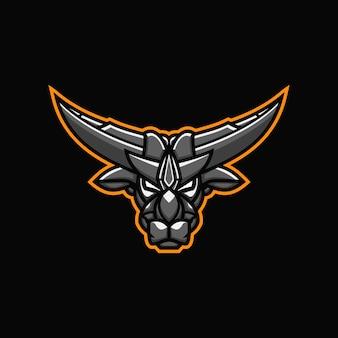 Bull mascotte esport logo design