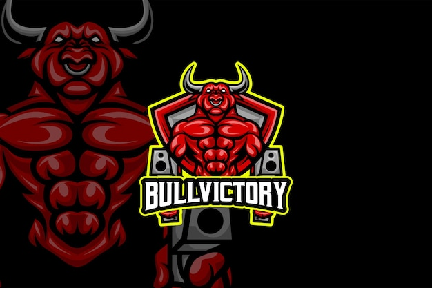 Bull victory - modello di logo esport