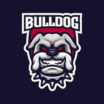 Logo dell'emblema della squadra esport bulldog