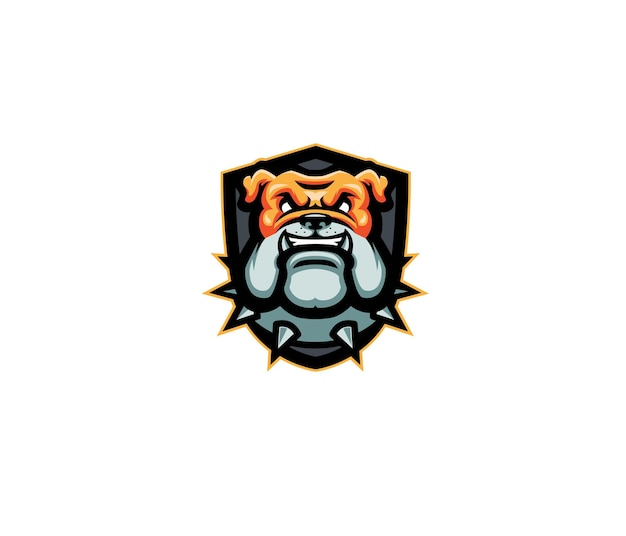 Bulldog testa mascotte logo