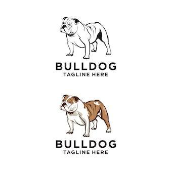 Disegno di marchio del bulldog